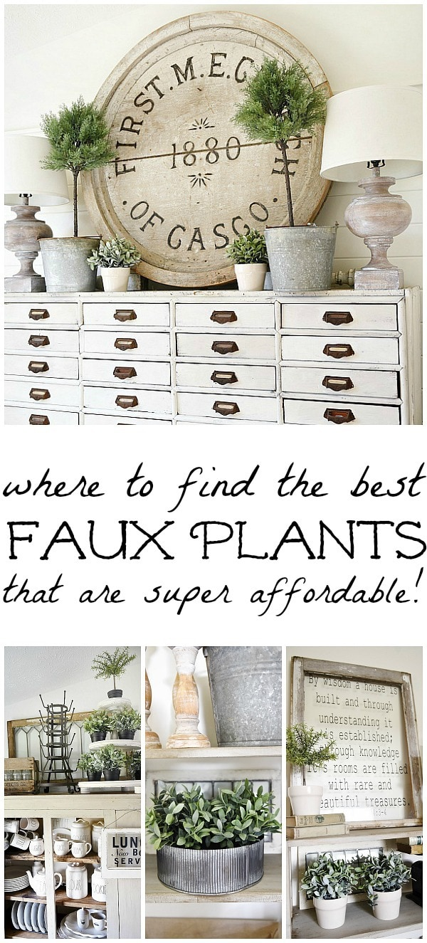 A great source for super affordable & beautiful greenery for any room of your home. Great realistic faux plants that you can't kill at a great price! A must pin for future decorating.