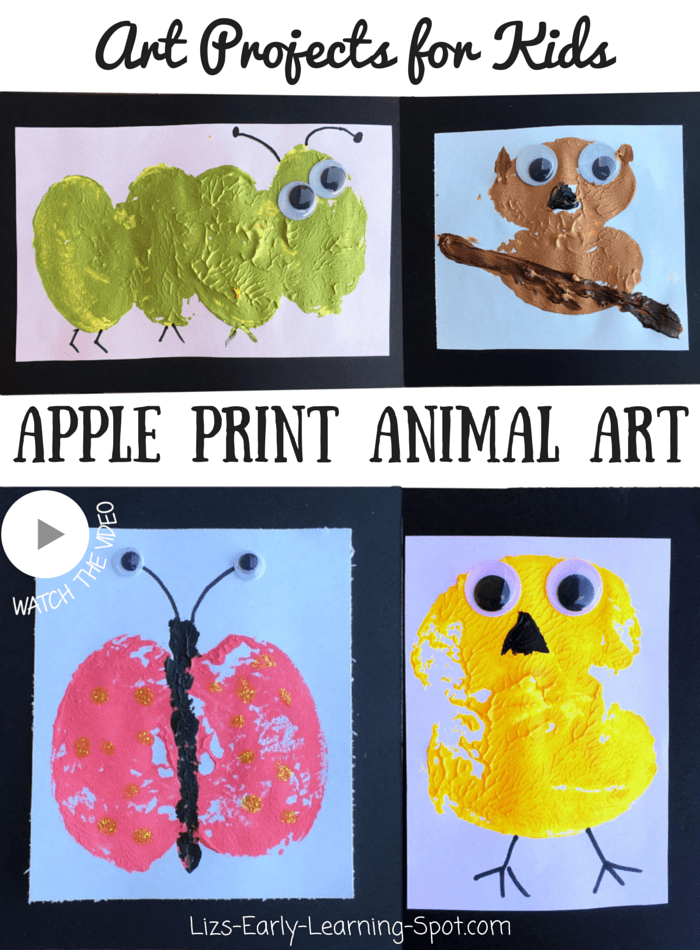 Use apple prints to create these cute animals. What new creatures could you create?