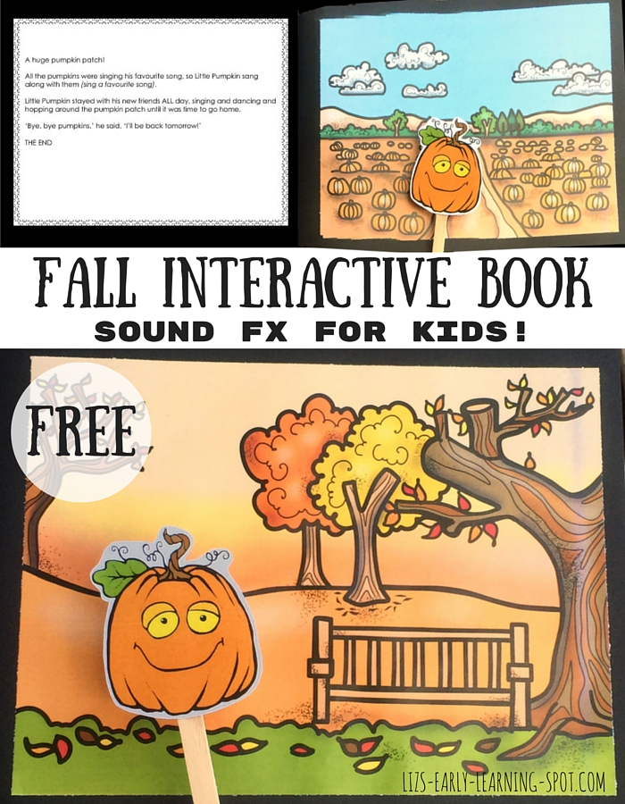 Your kids will help you read this story by providing sound effects and moving Little Pumpkin around!