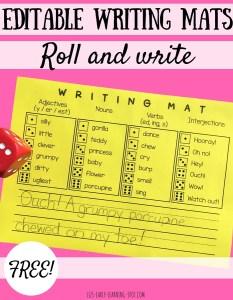 Editable Writing Mats