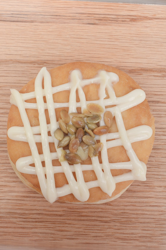 Maple Pumpkin Filled raised doughnut... OMG