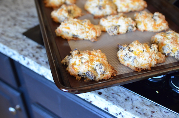 Conecuh Cheddar Drop Biscuits