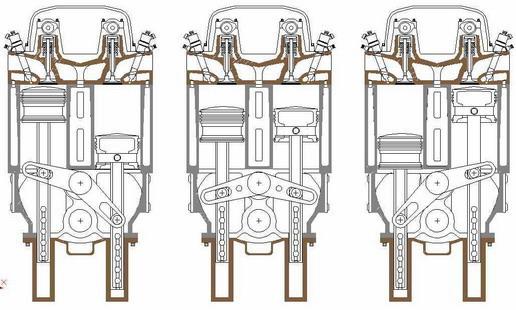 Internal combustion engine, the prototype design of oscillator engine