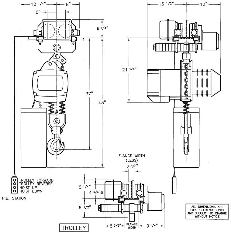 3 4 Ton Chain Hoist Diagram Online Wiring Diagram