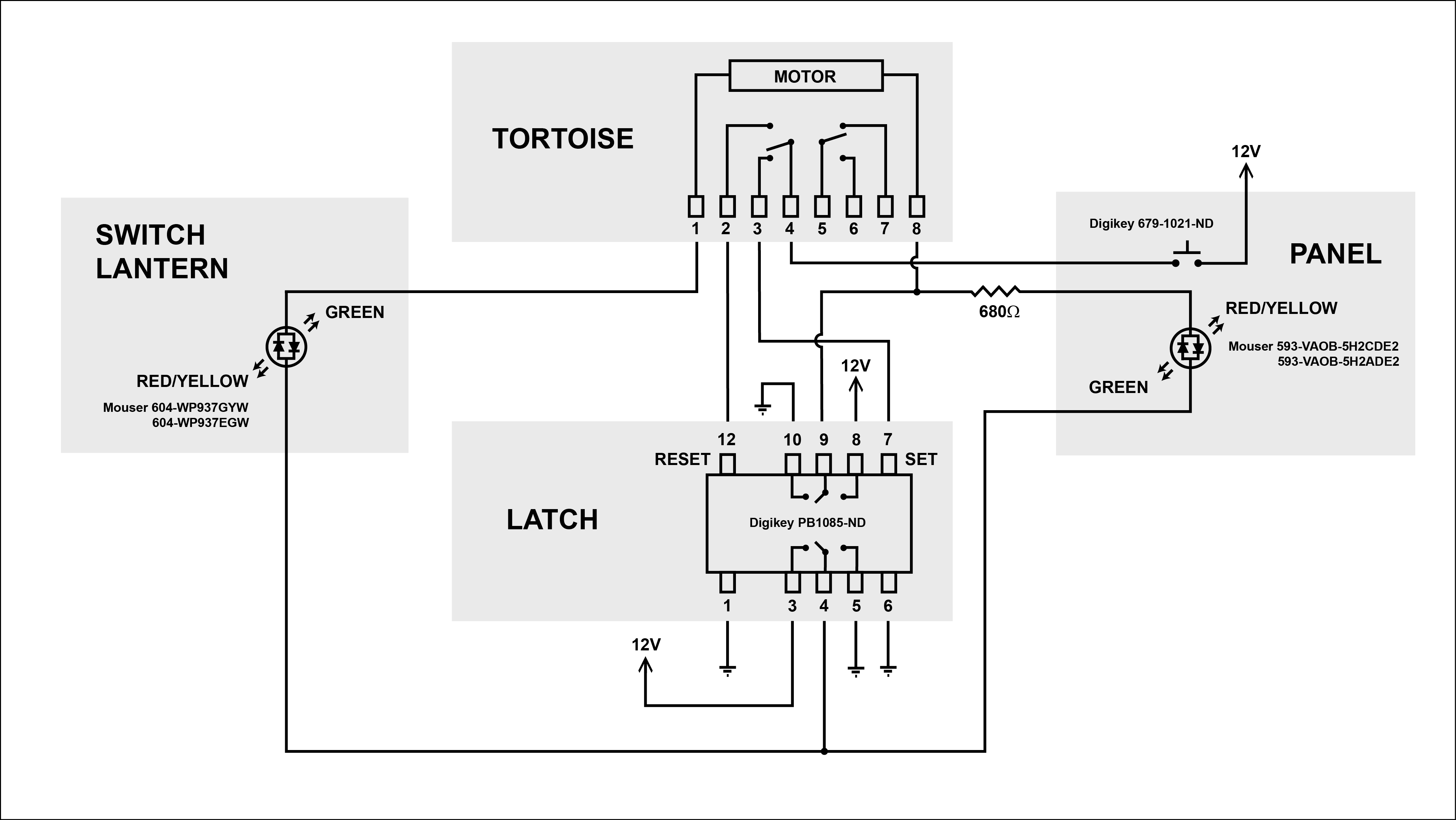 Tortoise Wiring Diagram For Controls Auto Electrical Switch Machines With Led Get Free