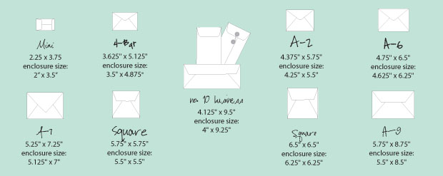 Announcement Size Envelopes - VISUAL GUIDE Envelopes, Envelope - baby size chart template