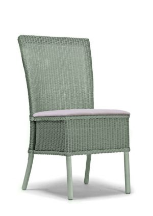 Lloyd Loom Hadfield Dining Chair with upholstered fabric seat TC012F