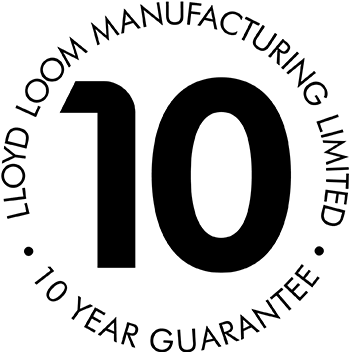 Lloyd Loom 10 Year Guarantee badge
