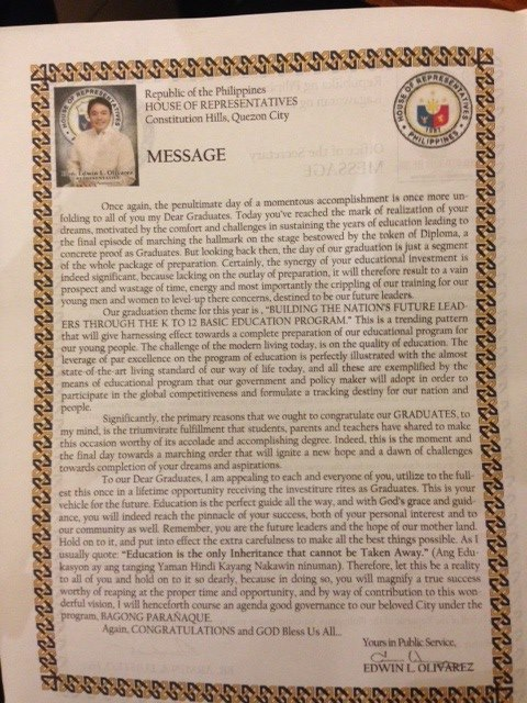 Graduation Speech Philippines Archives \u2022 The Best Filipino
