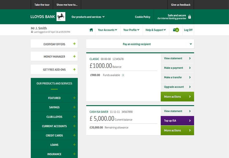 Lloyds Bank - Internet Banking \u2013 Viewing statements online