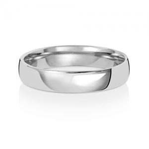 Platinum Wedding Ring Court, 4mm