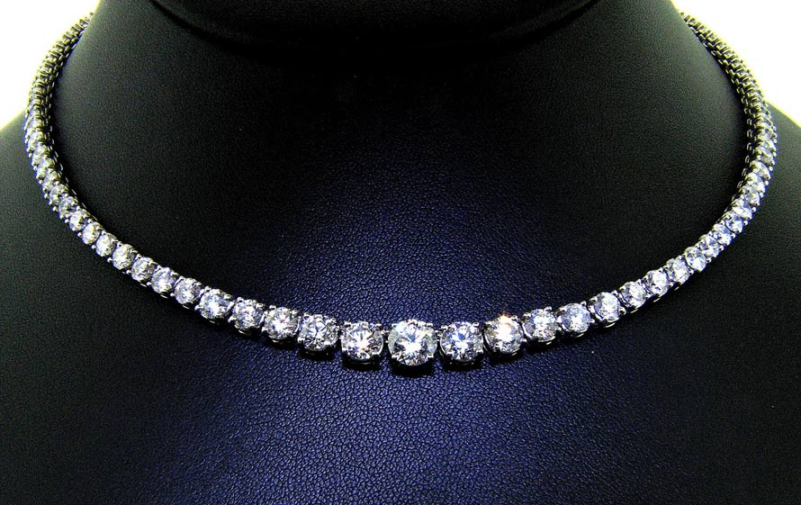 Amazing Brilliance In Classic Diamond Necklace Ll Pavorsky