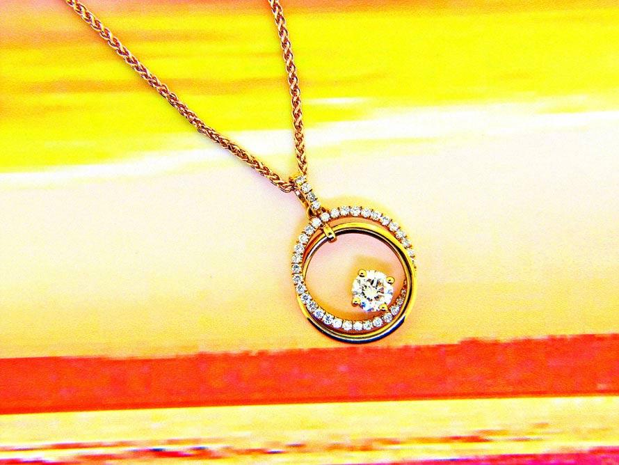 Circle of love diamond necklace traumspuren circle of love diamond pendant ll pavorsky saveenlarge aloadofball Choice Image