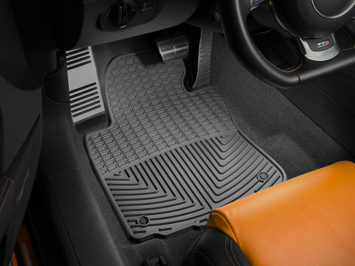 Weathertech w3 front rubber mats jaguar x type 2002 2016 black