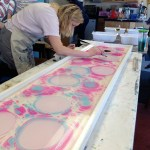 Video from our Ebru Silk Scarf Workshop | Sept 2014