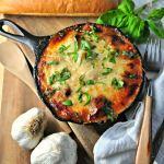 Cheesy Rosemary Meatball Bake