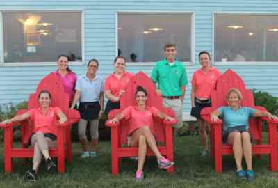 Staff in lobster chairs