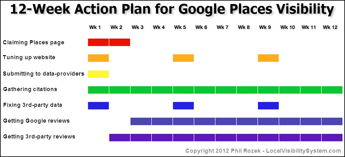 12-Week Action Plan for Google Places Visibility - plan of action template