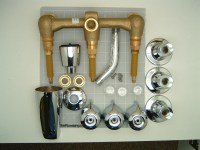 Gerber 48-030 Three Valve Tub And Shower Faucet On Eight ...