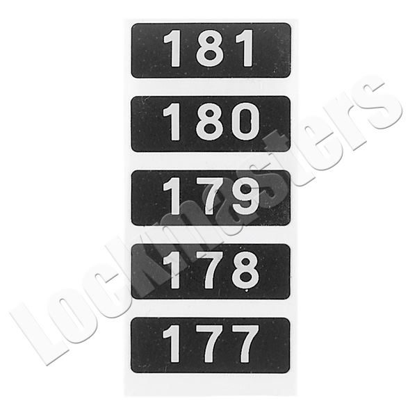 Lockmasters Mosler Safe Deposit Box Number Black with White Letter