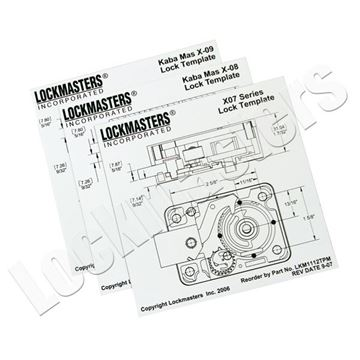 Lockmasters SG 2740 AB Aluminum Drill Template; MAG557326 - drill template