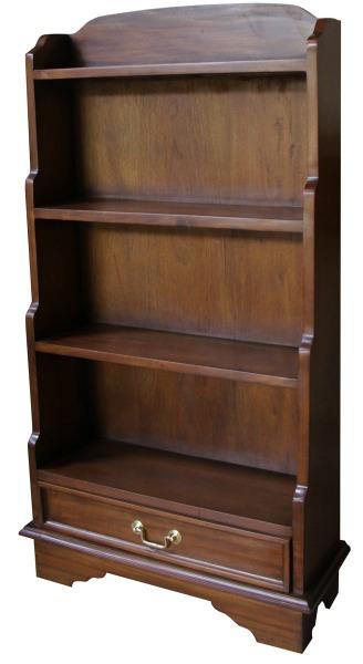 Solid Mahogany Waterfall Bookcase