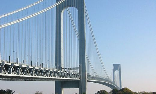 Verrazano Narrows Bridge- connects Brooklyn to Staten Island