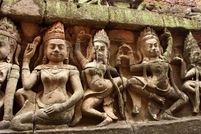 Detalle de un templo de Angkor