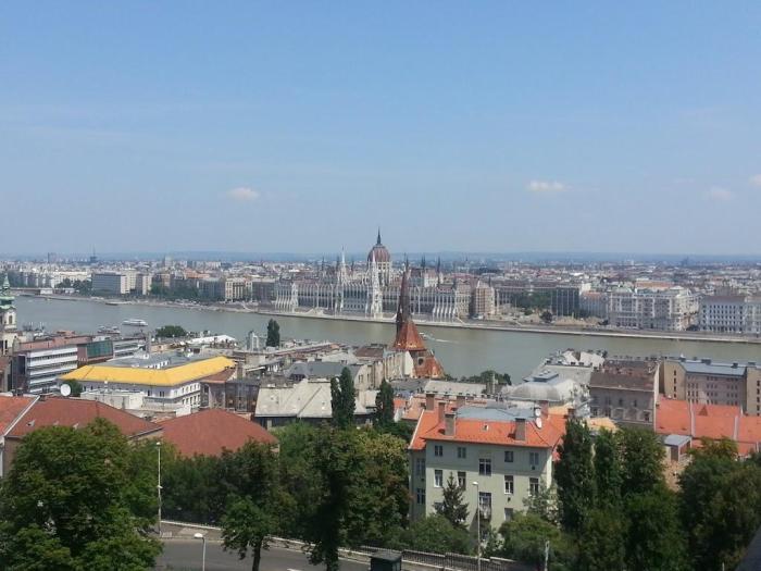 Vista del Parlamento de Budapest