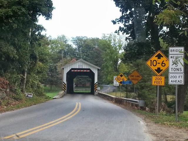 Puente cubierto en el condado de Lancaster