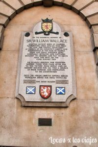 Londres Macabro: Placa de William Wallace