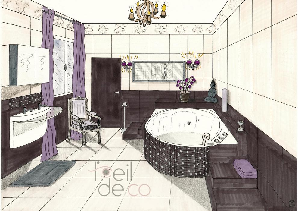 L\u0027OEIL DE CO Salle de bain Zen - Perspective - L\u0027OEIL DE CO