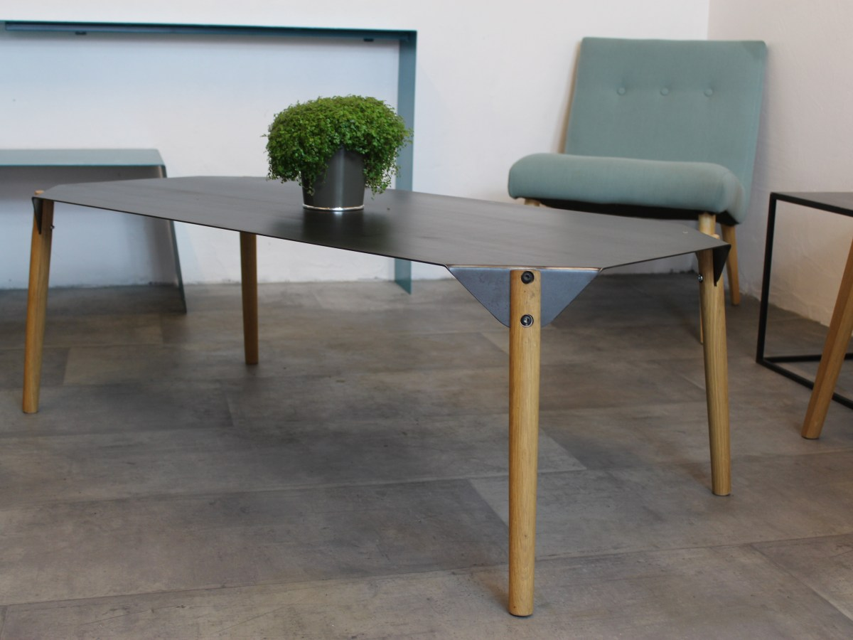 table basse style industriel scandinave
