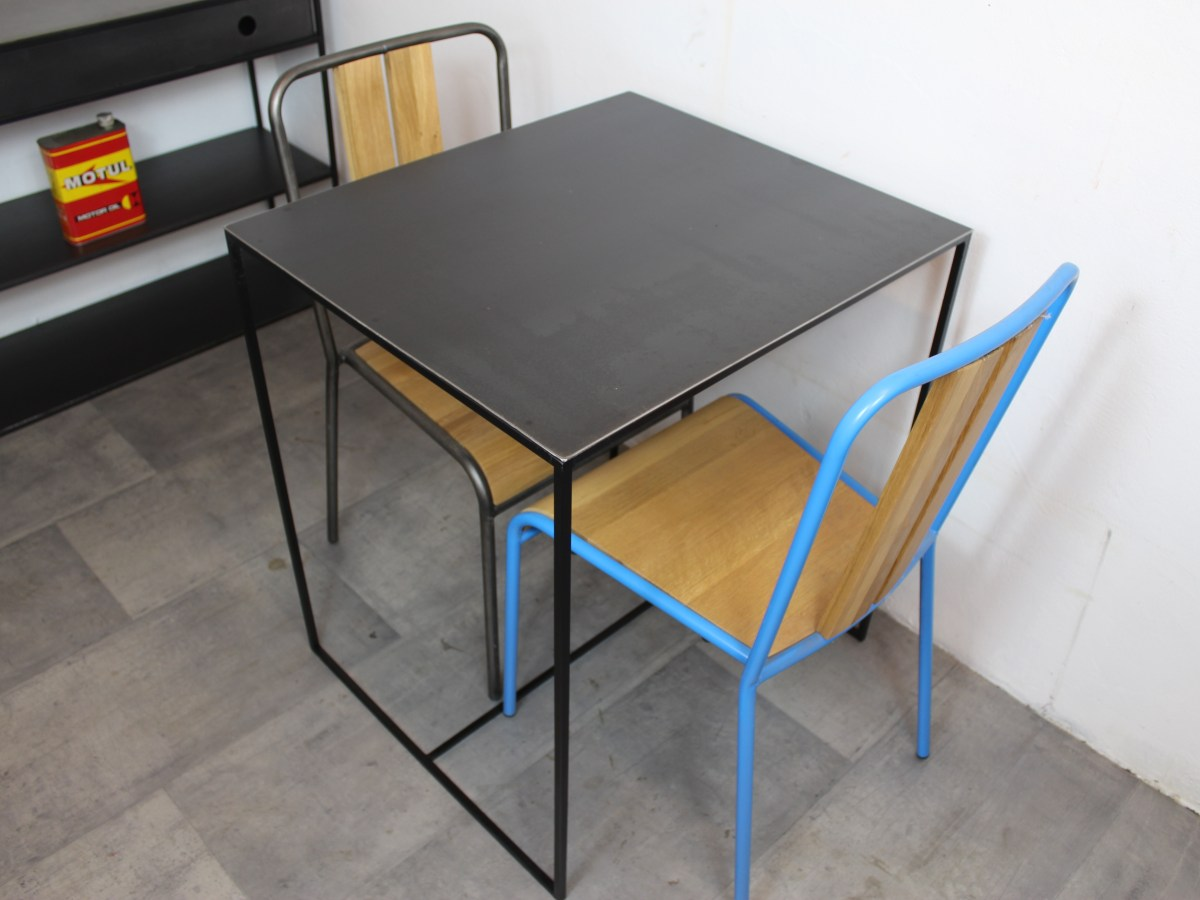 Table Bistrot Acier Loft Industeel