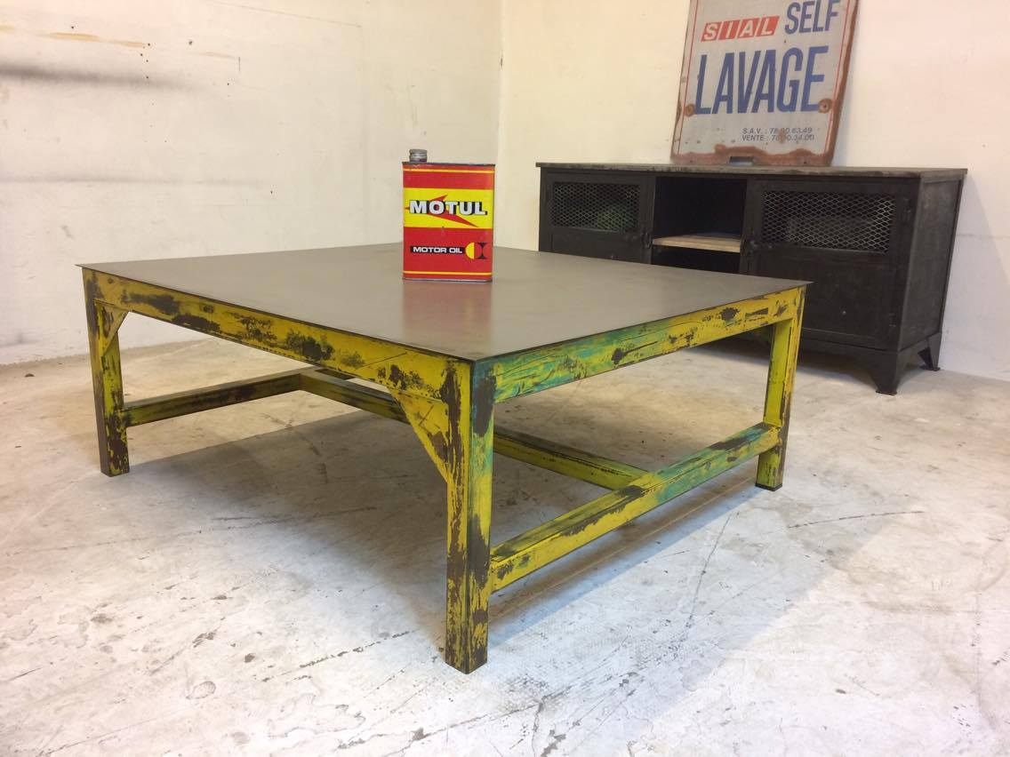table basse industriel