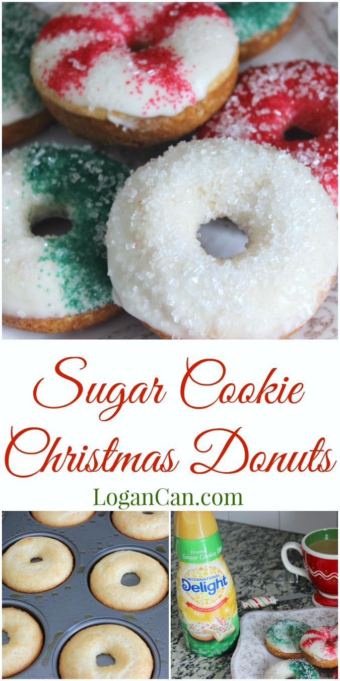 Sugar Cookie Christmas Donuts LoganCan.com
