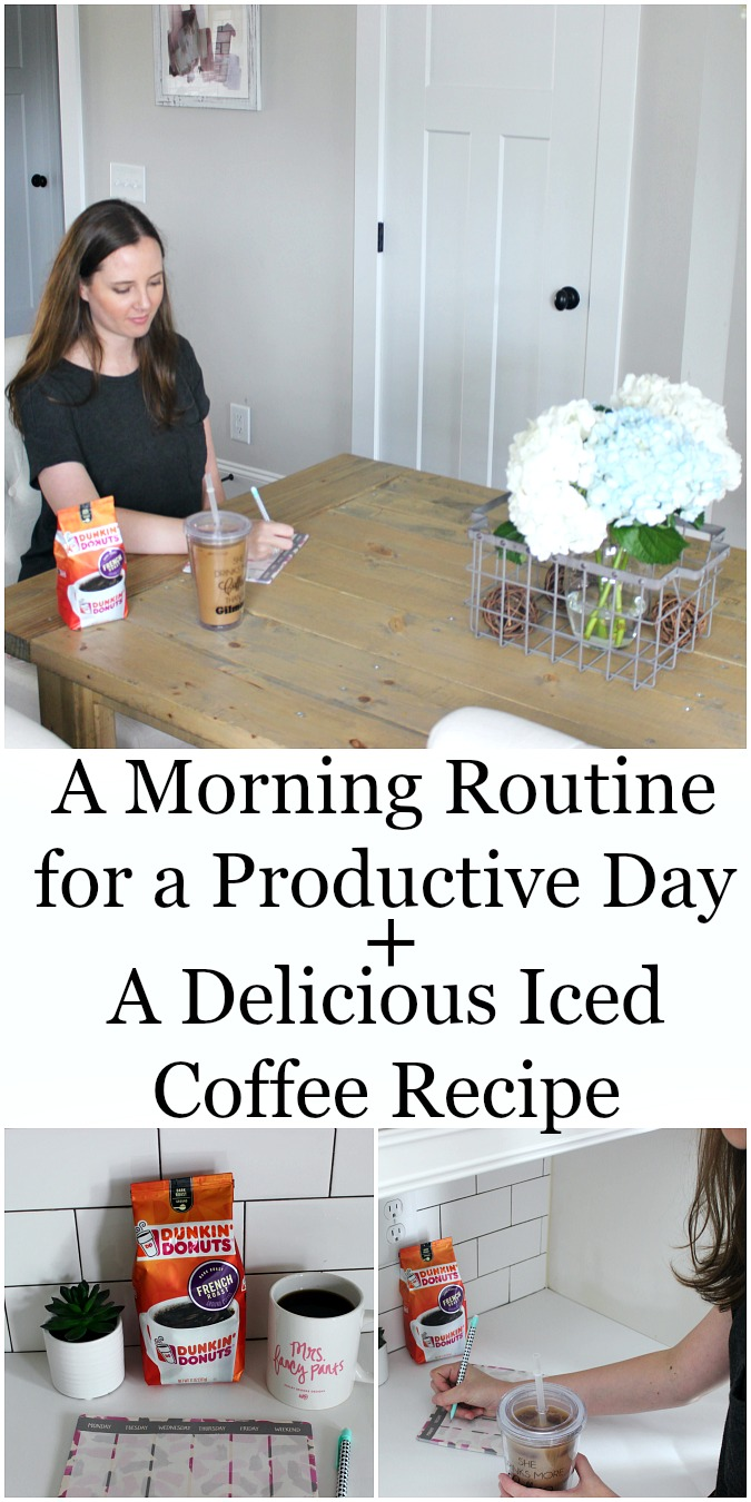 A Morning Routine for a Productive Day with a Delicious Iced Coffee Recipe
