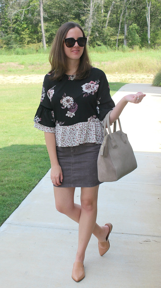 Fall Florals: Floral Peplum Top
