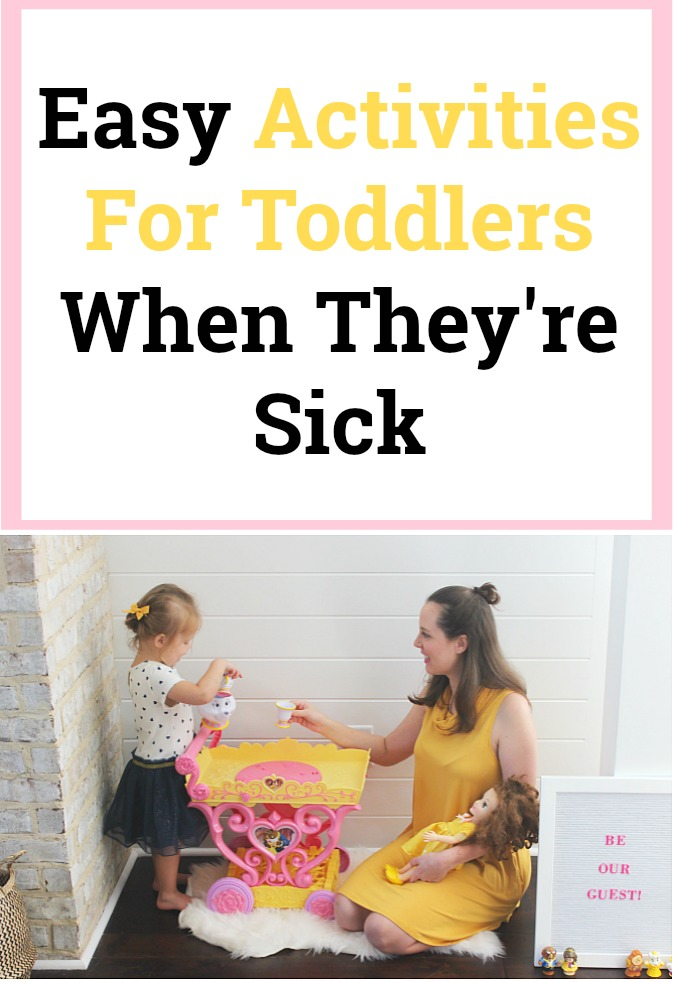 Easy Activities For Toddlers When They're Sick