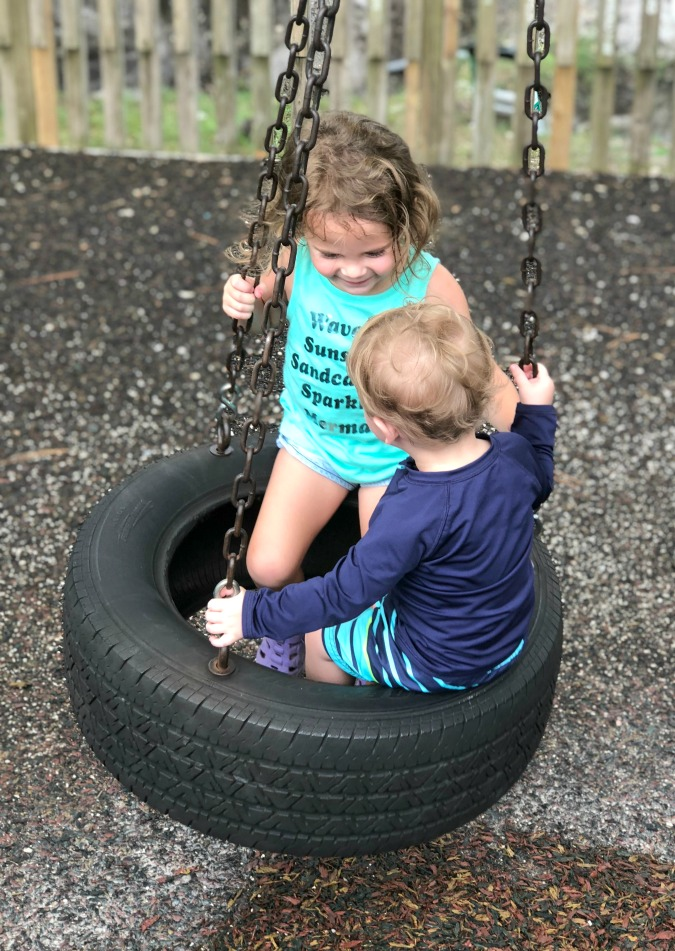 Family Vacation Tire Swing
