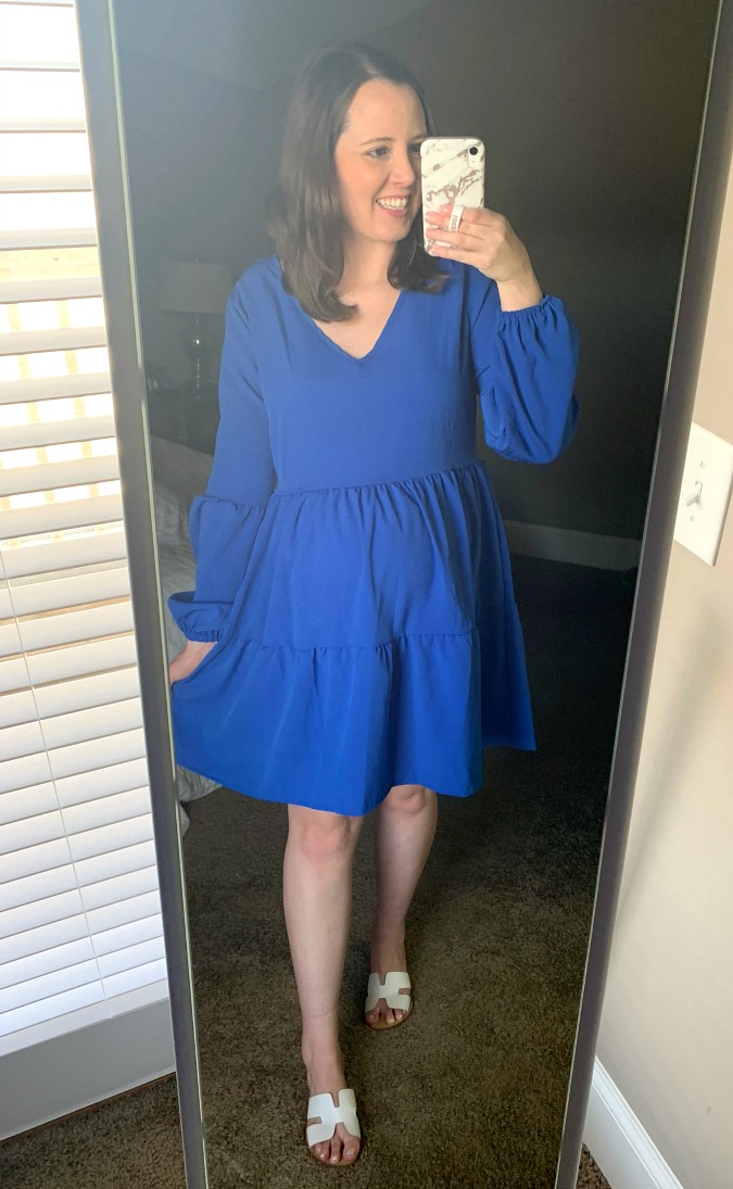 Amazon Try On Blue Dress