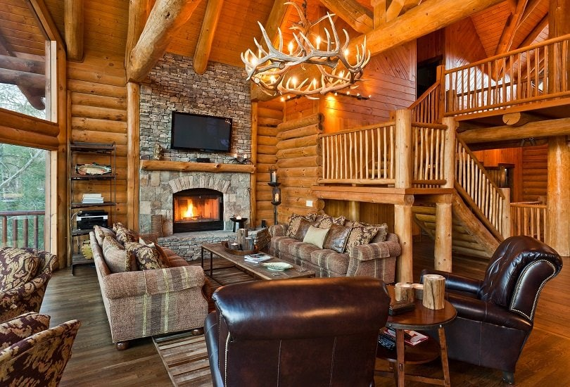 22 Luxurious Log Cabin Interiors You Have To See Log