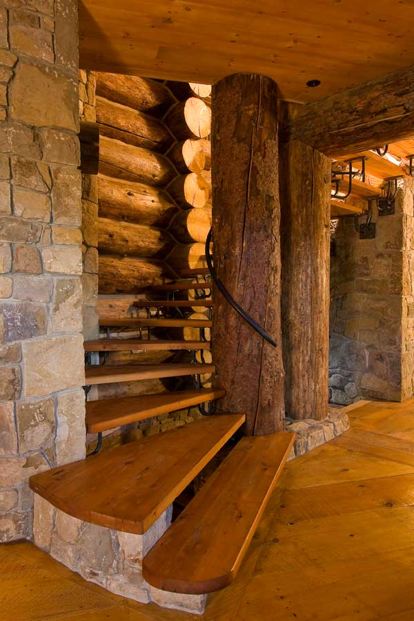 Log Stairs Design On Pinterest Logs Stairs And Log Homes
