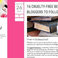 Logical Harmony Listed by Petit Vour in 16 Cruelty Free Bloggers to Follow Now