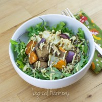 Veggie Quinoa Bowl with Cheezy Cashew Sauce