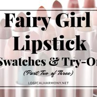 Fairy Girl Lipsticks Try On & Swatches