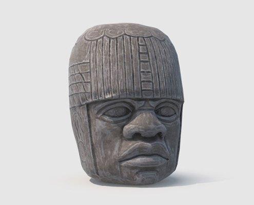 Olmec Statue details