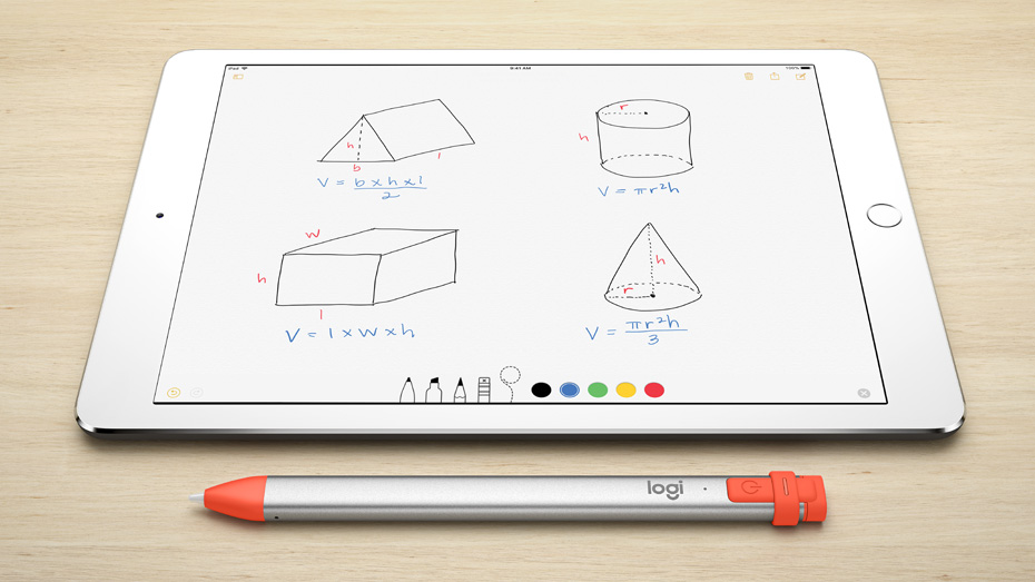 Logitech Crayon Digital iPad Pencil for Students