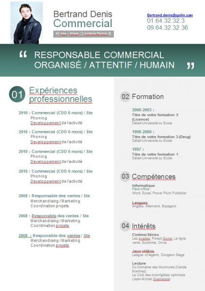 quelles competences sur un cv de commercial