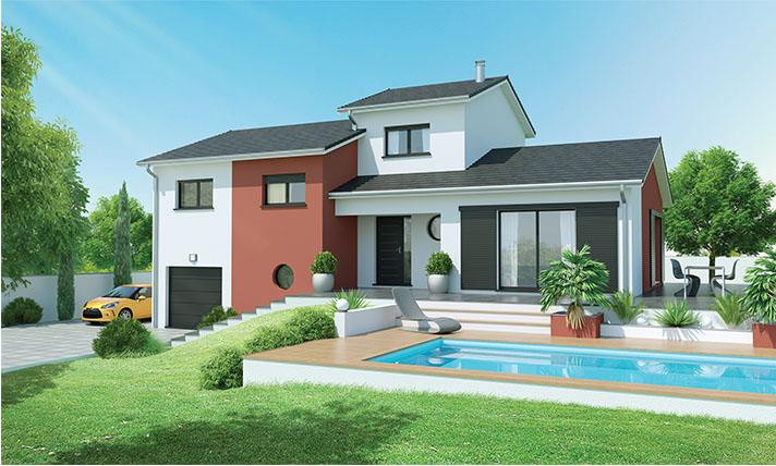 constructeur-maison-habitation-immeuble-lotissement-velux-tuiles - plan de maison a etage moderne